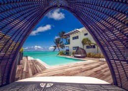 Crystal Blue Lagoon Luxury Villas, Cook Islands - View from inside daybed