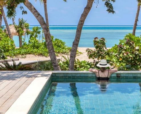 Six Senses Fiji - Ocean Views From Beachfront Pool Villa